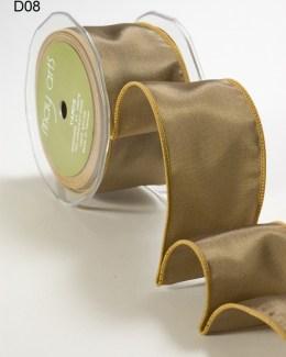 Olive Taffeta Wired Ribbon