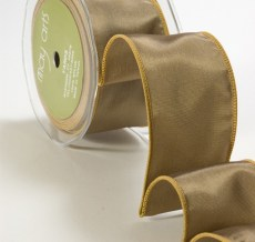 Olive Taffeta Wired Ribbon