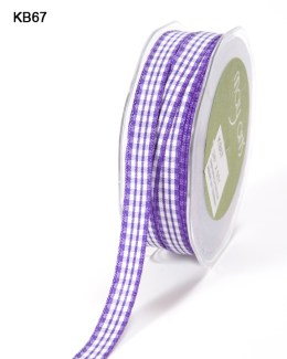 purple and white checkered gingham ribbon