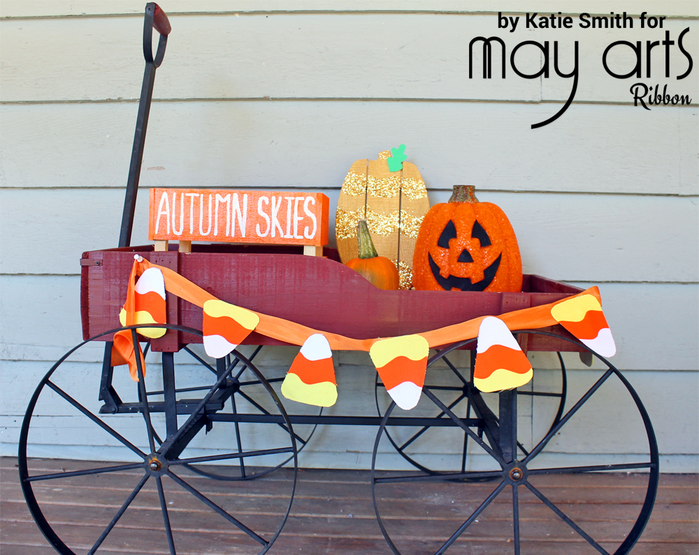 Fun DIY Candy Corn Banner - Wholesale Ribbon - May Arts Ribbon