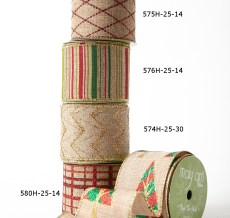 "2.5"" wired Christmas ribbon kit"