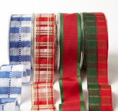 "1.5"" Holiday Christmas Wired Ribbons"
