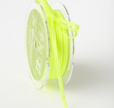 Woven Stitched Edge Ribbon Neon Yellow