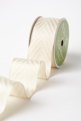Ivory Woven Hidden Arrow Ribbon