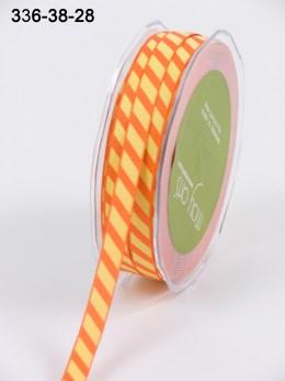 Variation #154085 of 3/8 Inch Grosgrain Ribbon w/ Diagonal Stripes Ribbon