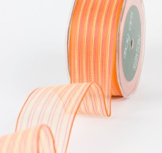 Variation #154179 of 1.5 Inch Sheer / Pinstipes (Wired) Ribbon