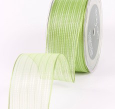 Variation #154180 of 1.5 Inch Sheer / Pinstipes (Wired) Ribbon