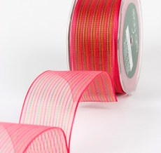 Variation #154177 of 1.5 Inch Sheer / Pinstipes (Wired) Ribbon