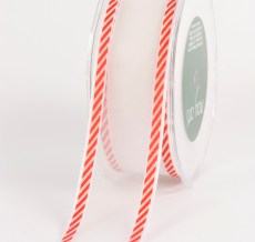 Variation #0 of 1.5 Inch White Sheer / Diagonal Stripes (Wired) Ribbon