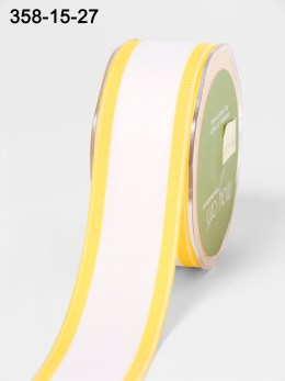 Variation #154278 of 1.5 Inch White Grosgrain / Band Edge Ribbon