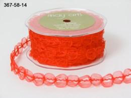 Variation #154363 of 5/8 Inch Sheer / Looped Trim Ribbon