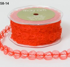 Variation #154363 of 5/8 Inch Sheer / Looped Trim Ribbon
