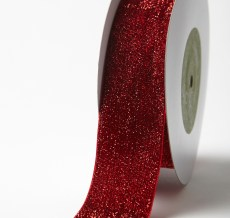 Variation #156018 of 1.5 Inch Metallic Velvet Ribbon