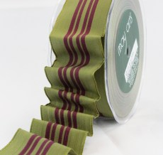 Variation #0 of 1.5 Inch Solid / Center Stripes (Wired) Ribbon