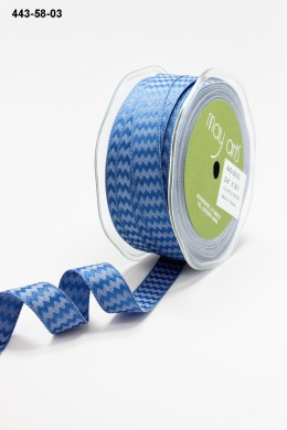 Variation #155214 of 5/8 Inch Woven Chevron Stripes / Wired Ribbon