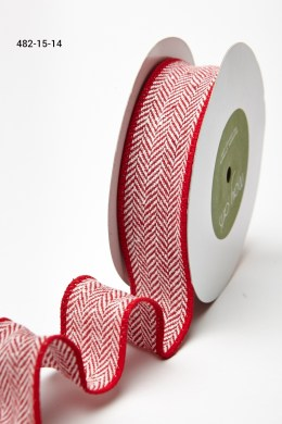 Variation #155684 of 1.5 Inch Woven Herringbone Ribbon / Wired