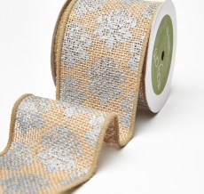 Variation #0 of 3 Inch Printed Burlap Ribbon