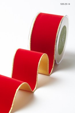 Variation #156038 of 2.5 Inch Velvet Ribbon With Gold Backing