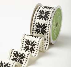Variation #184622 of 1.5 Inch Wired Scandinavian Snowflake Ribbon