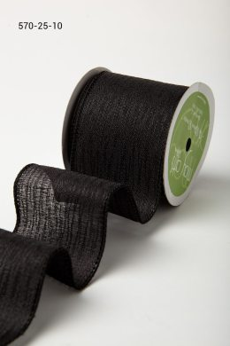 Variation #184701 of 2.5 Wired Inch Solid w/ Waves Ribbon