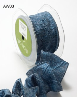 Variation #148614 of 2 Inch Solid Crushed Wired Ribbon