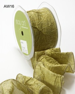 Variation #148615 of 2 Inch Solid Crushed Wired Ribbon