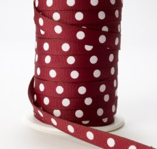 Variation #0 of 3/8 Inch Grosgrain Center Dot Ribbon