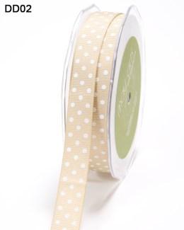 DD-8-02 - 5/8 Inch Grosgrain Dots Ribbon