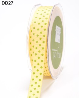 DD-8-27 5/8 Inch Grosgrain Dots Ribbon