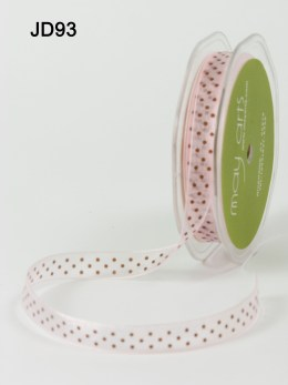 Variation #150786 of 3/8 Inch Sheer Dots Ribbon