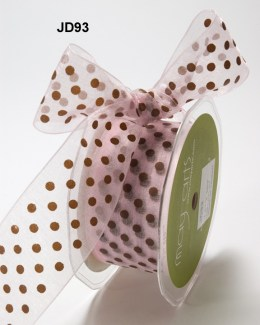 Variation #150697 of 1.5 Inch Sheer Dots Ribbon