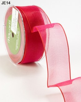 Variation #0 of 1.5 Inch Sheer Iridescent Wired Ribbon