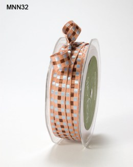 Variation #151473 of 3/8 Inch SOLID/WOVEN CHECK Ribbon