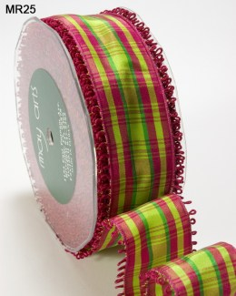 Variation #151480 of 1.5 Inch PLAID/LOOP EDGE/WIRED Ribbon