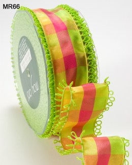Variation #151484 of 1.5 Inch PLAID/LOOP EDGE/WIRED Ribbon