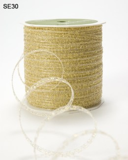 Gold Curly Sparkling Ribbon