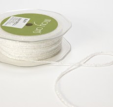 White Metallic String Ribbon