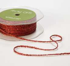 Red Metallic String Ribbon