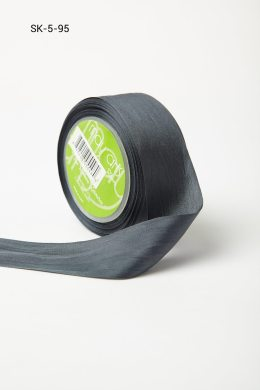 Charcoal Silk Ribbon