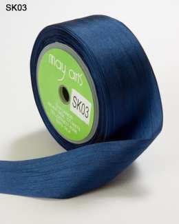 Navy Silk Ribbon