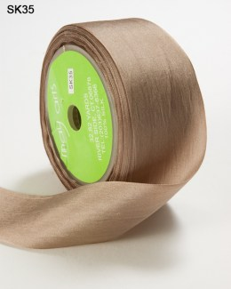 Taupe Silk Ribbon