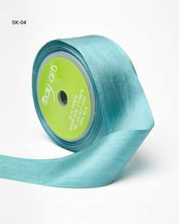 Teal Silk Ribbon