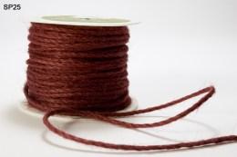 Burgundy Burlap Cord Ribbon