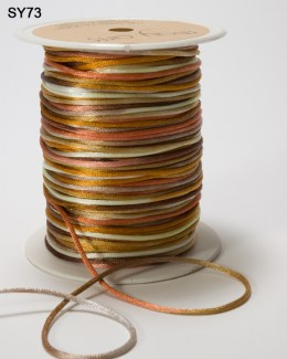 Brown,Copper and Gold 100 Yards Satin String