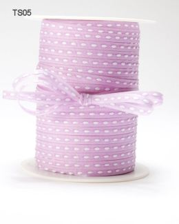 Lavender Solid Stitched Center Ribbon