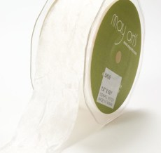 Ivory Silky Crush Ribbon