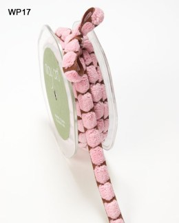 Brown and Pink Chenille Center Dot Ribbon