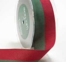 Red and Green Grosgrain / Two Band Ribbon
