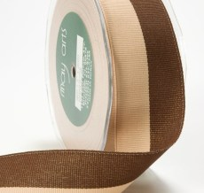 Brown and Light Brown Grosgrain Two Band Ribbon