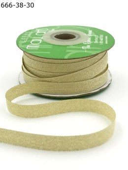 woven gold metallic ribbon
